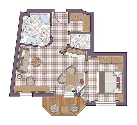 Ground Plan BelArosa-Suite
