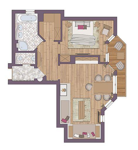 Luxury Suite in Arosa - ground plan
