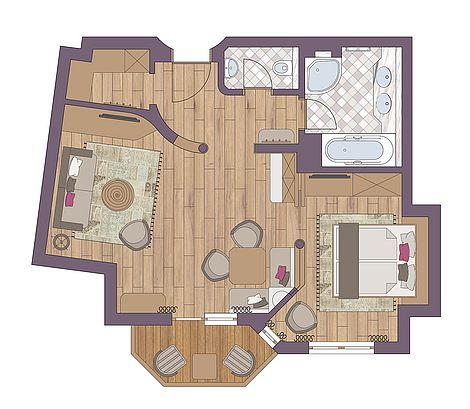 Ground plan Senior Suite